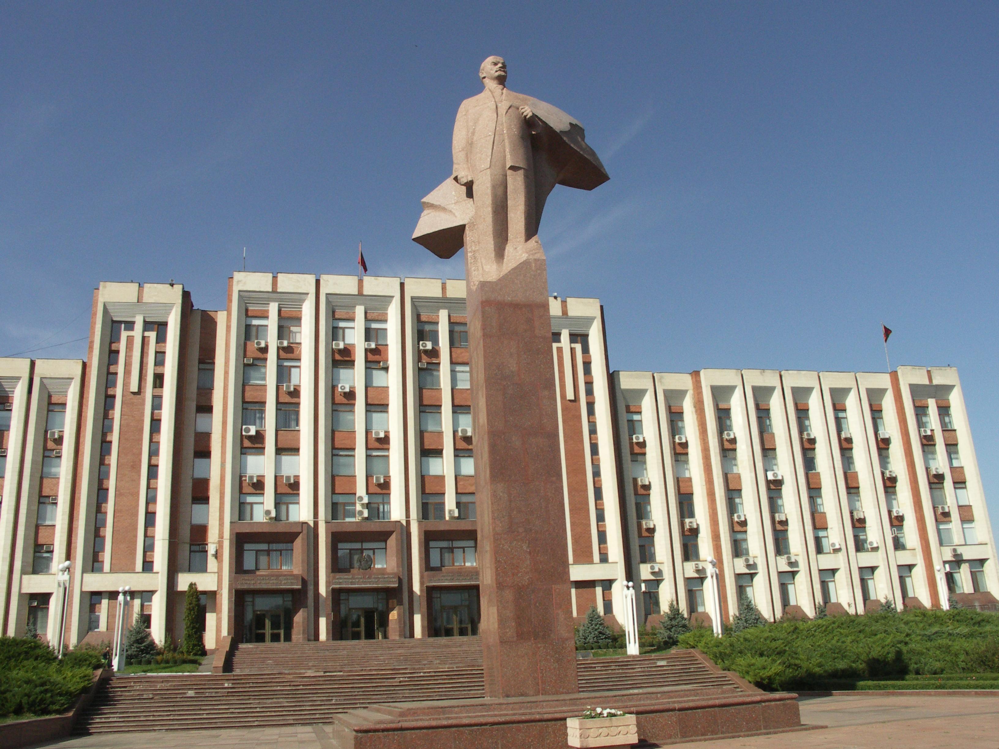 Parlamentsbygning i udbryderregionen Transdnjestr Foto: Ota Tiefenböck