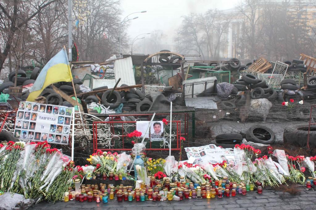Uafhængighedspladsen i Kiev i marts 2014 Foto: Ota Tiefenböck