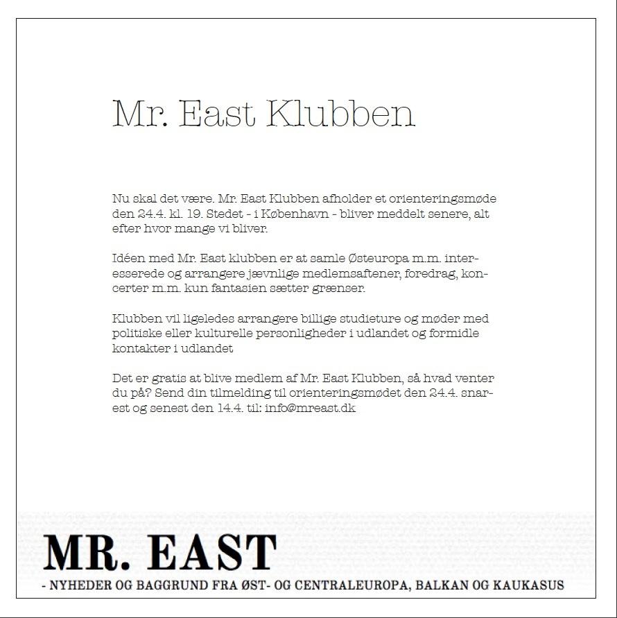 Mr.East Klubben