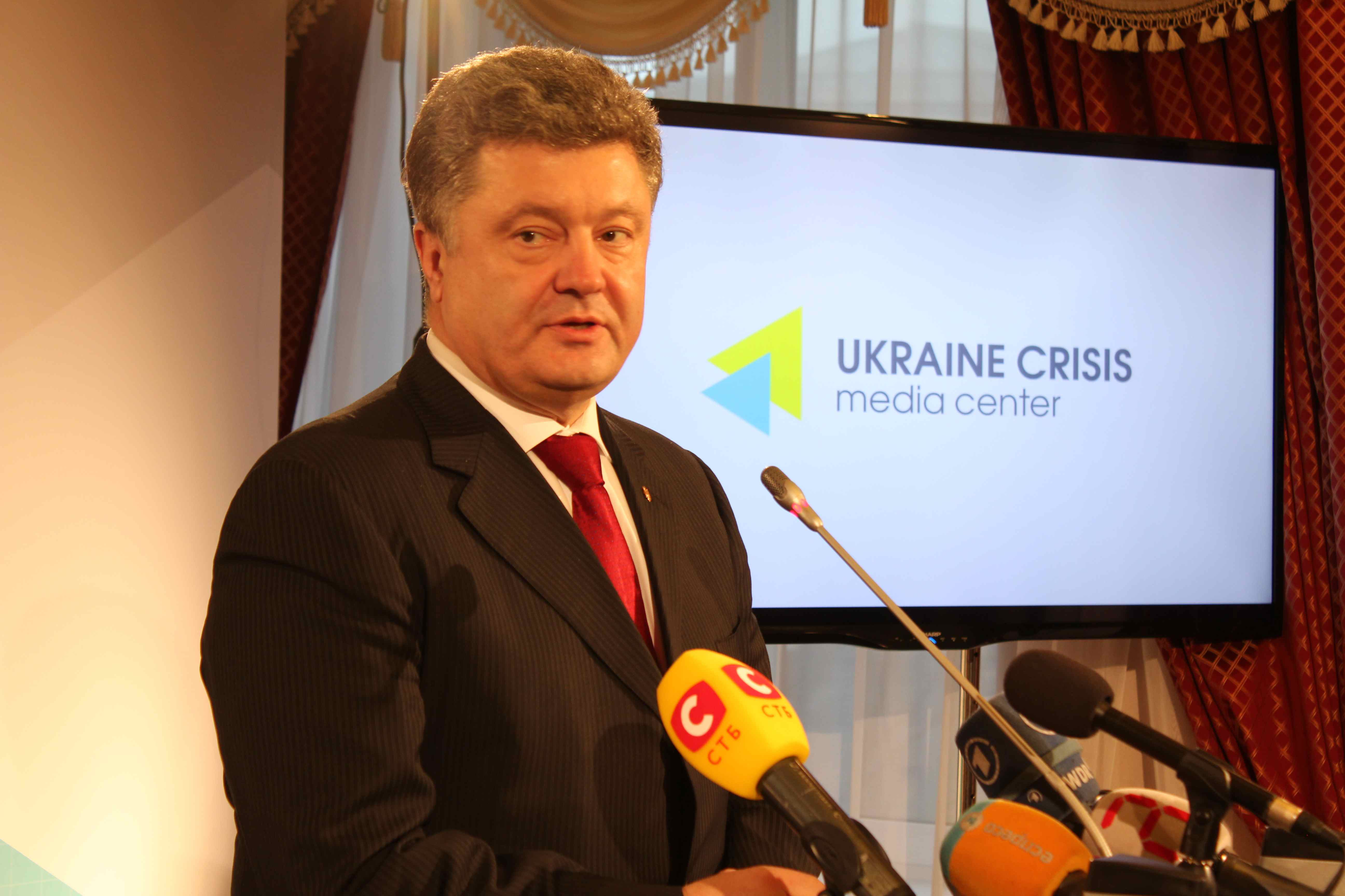 Ukraines præsident Petro Porosjenko  Foto: Ota Tiefenböck