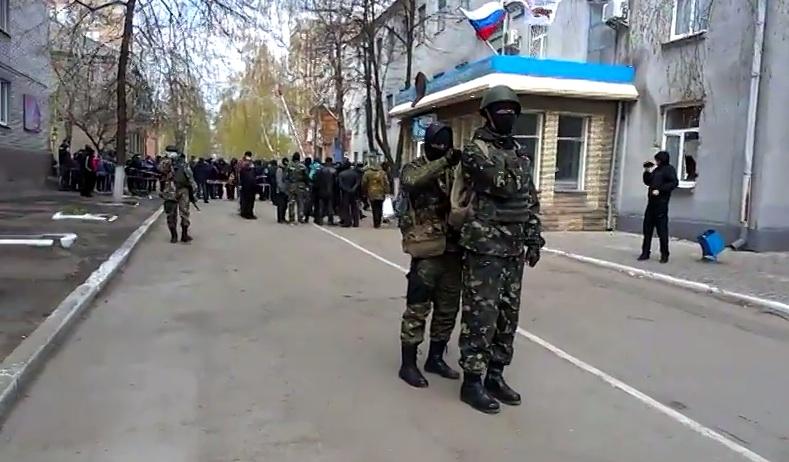 Prorussiske separatister i Slavyansk Foto: Euromaidan
