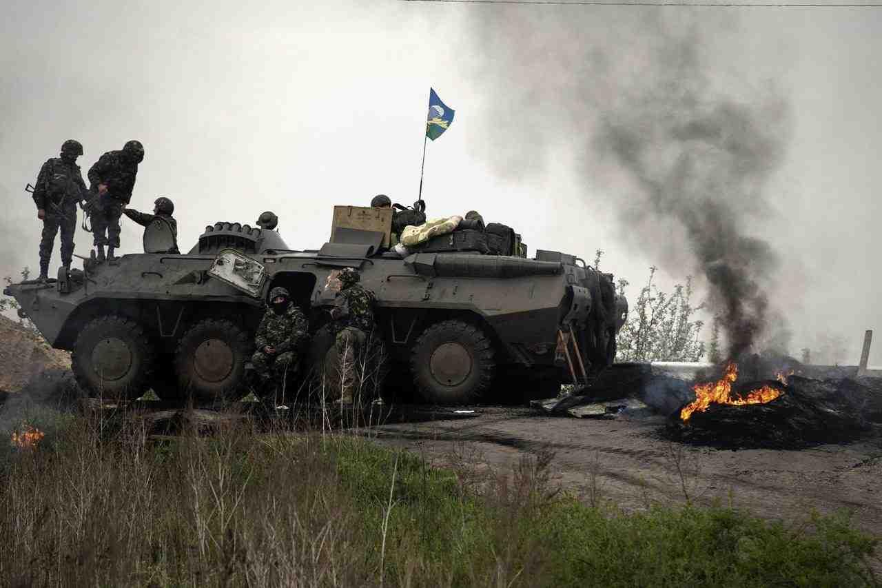 Der foregår hårde kampe i Østukraine Illustrationsfoto: Det ukrainske Frosvarsministerium