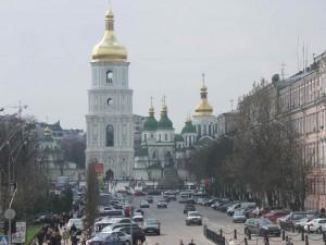 Den ukrainske hovedstad Kijev Foto: Ota Tiefenböck