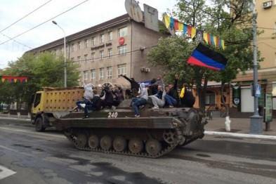 Prorussiske separatister i Donbas Foto: Luhansk Gv.