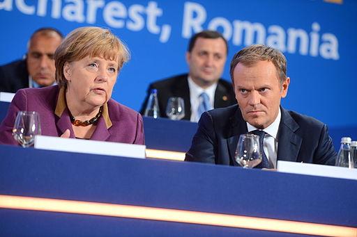 Angela Merkel sammen med den polske premierminister Donald Tusk  Foto: European Peoples`s Party