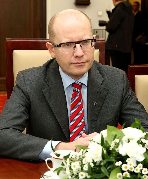 Bohuslav Sobotka, her på besøg i det polske senat Foto: Katarzyna Czerwińska