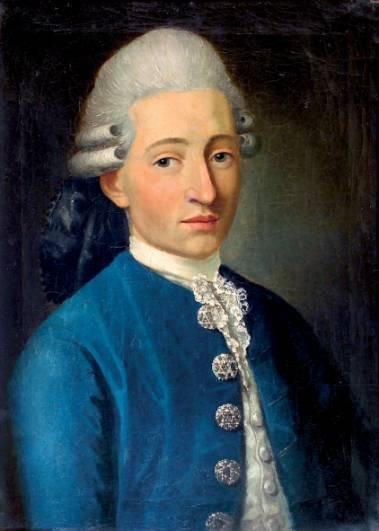 Mozart malet af Delahaye  Foto: Wikimedia
