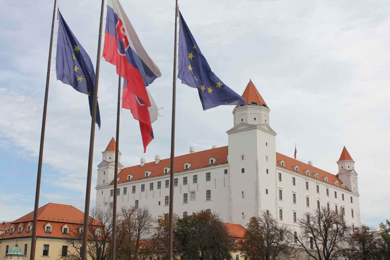 Borgen i den slovakiske hovedstad Bratislava Foto: Ota Tiefenböck