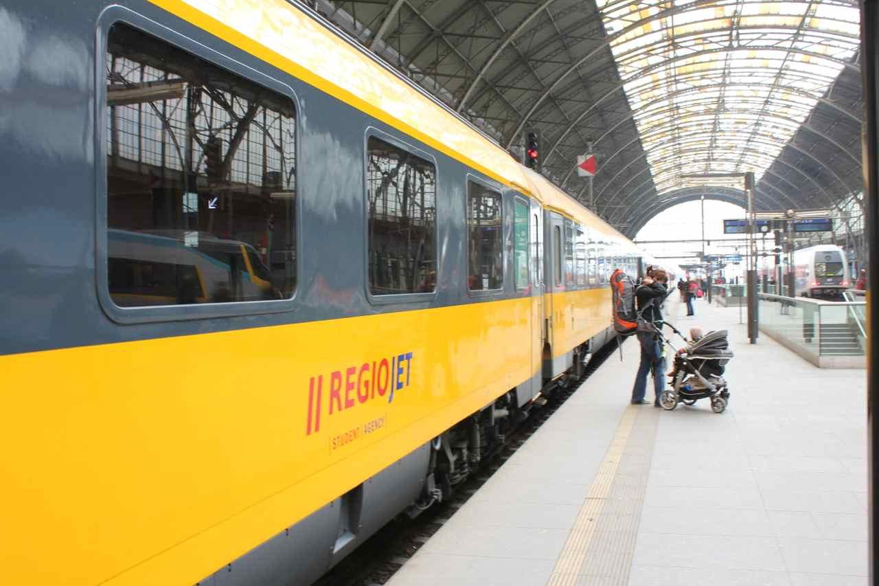 Det tjekkiske selskab RegioJet driver sjrenbanelinier i både Tjekkiet og Slovakiet Foto: Ota Tiefenböck