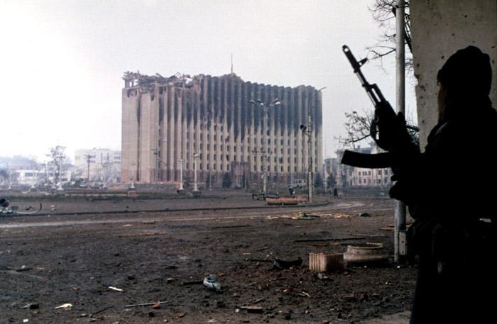 Tjetjenien i januer 1995. Foto: Mikhail Evstafiev