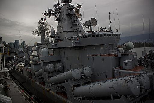 Russiske missiler på skibet Varyag Foto: Pan Pacific