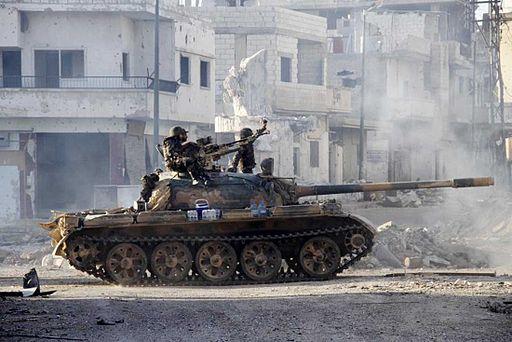 Fra kampene i Syrien, her syriske militær  Foto: Iamthebest052