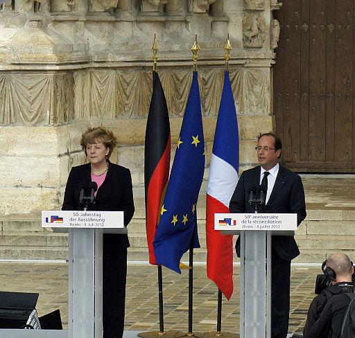 Angela Merkel og Francois Hollande  Foto: Gartian