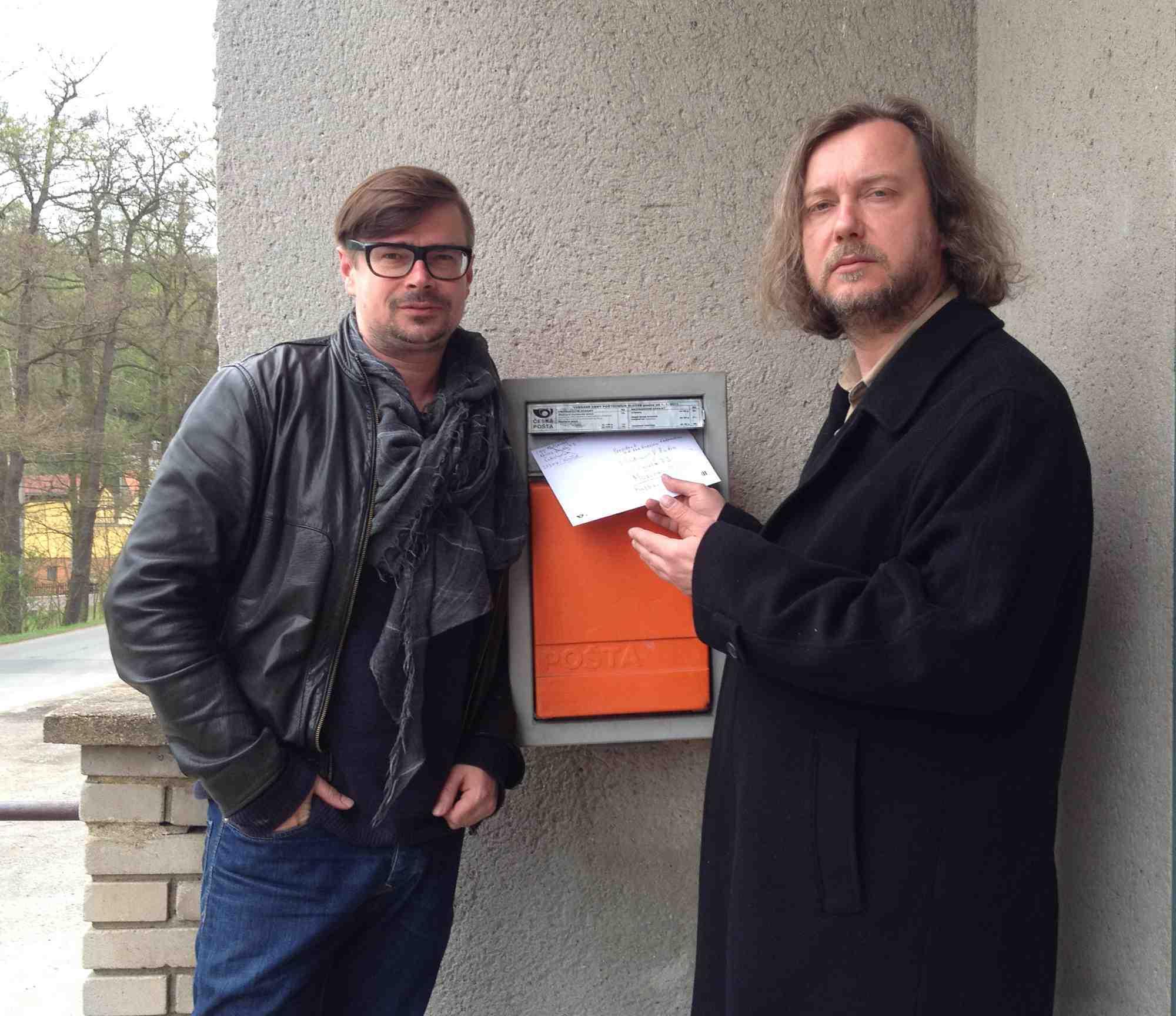 Jaroslav Rudis og Igor Malijevsky sender brevet til den russiske præsident Vladimir Putin  Foto: privat