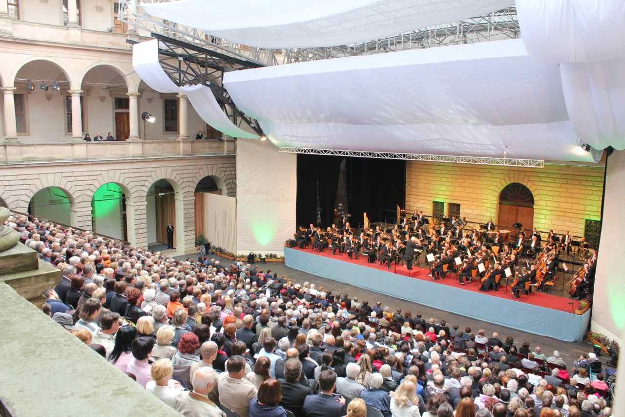 Fra sidste års Koncert på slottet i Litomysl Foto: Ota Tiefenböck