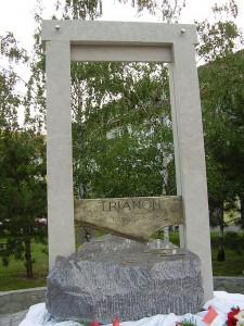 Flere steder i Ungarn, her i Békéscsaba, mindes Trianon, som et trist kapitel i Ungarns historie Foto: Tobi85
