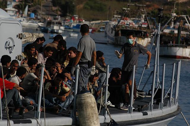 Flygtninge på den italienske ø Lampedusa Illustrationsfoto- Sara Prestianni