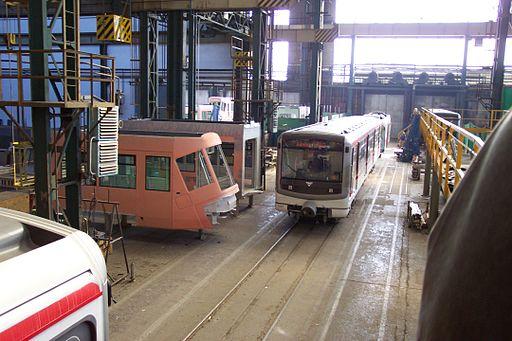 Skoda Transportation i den tjekkiske by Pilsen fremstiller transportmidler og er en af Tjekkiets mest succesfulde virksomheder Foto: Aktron / Wikimedia Commons