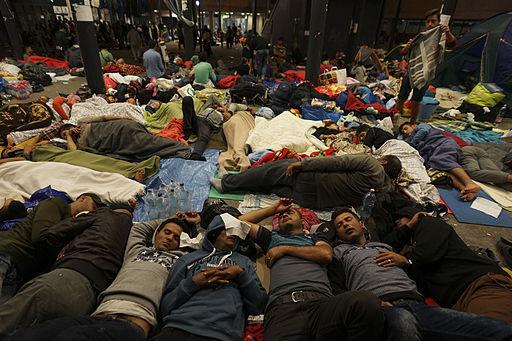 Flygtninge på banegården i Budapest i september Foto: Mstyslav Chernov