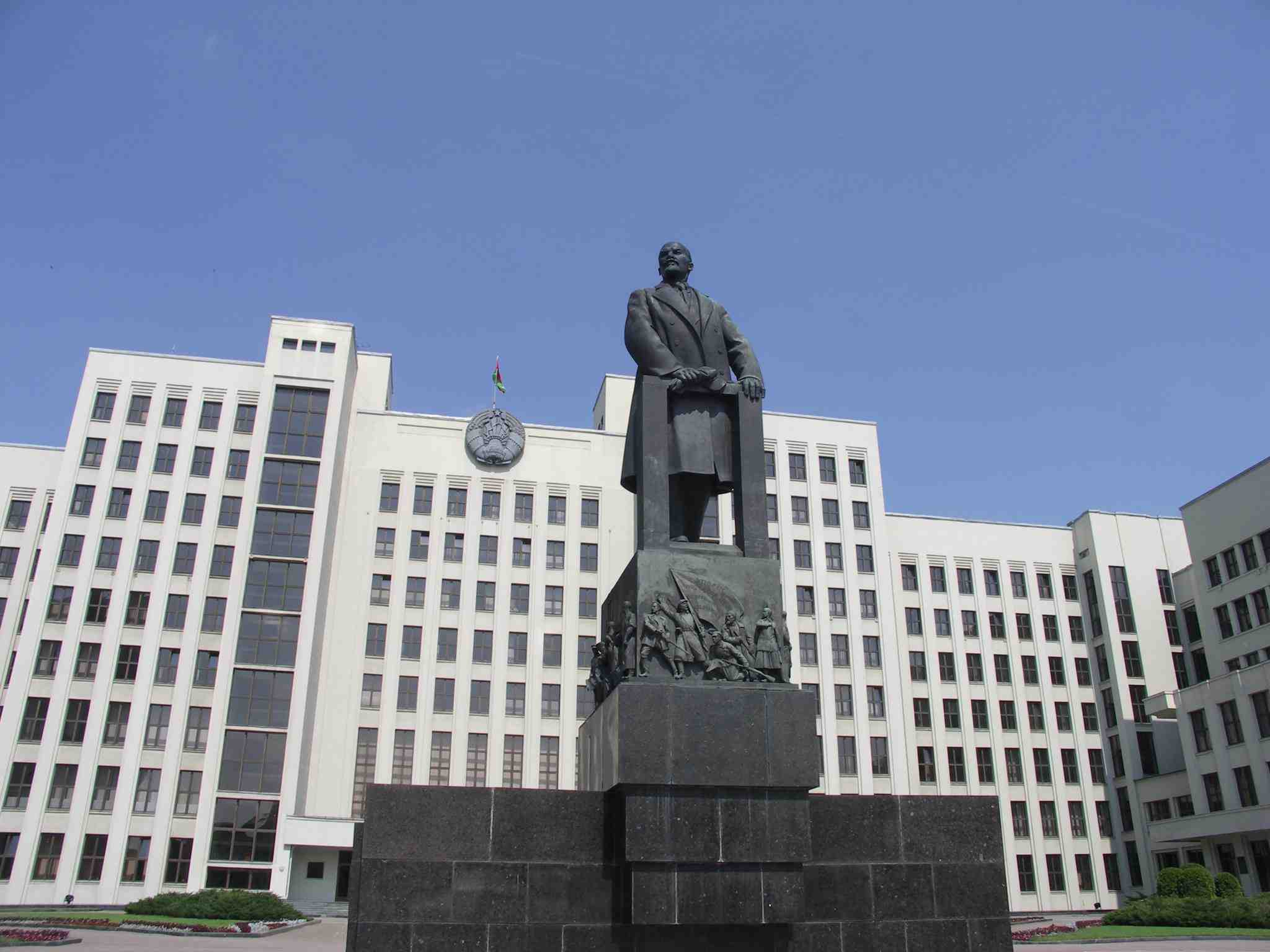 Parlamentsbygningen i Minsk Foto: Ota Tiefenböck