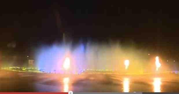 Verdens største springvand i Groznyj  Foto: Youtube