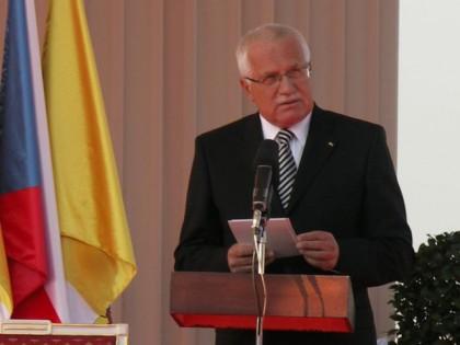 Vaclav Klaus i 2009 under Pavens besøg i Tjekkiet Foto: Ota Tiefenböck