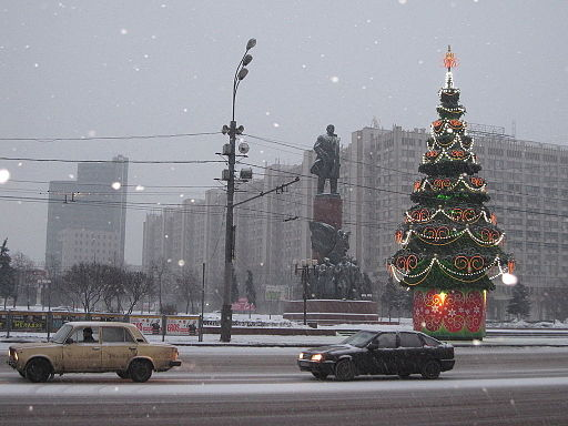 Jul i Moskva Foto: Trravepleb
