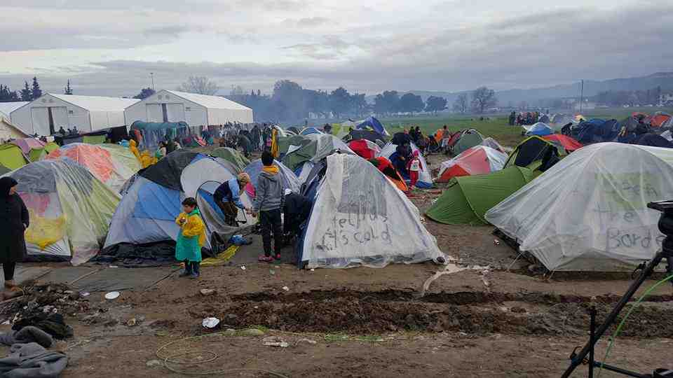 Lejren Idomeni på den græsk-makedonske grænse  Foto: Driton Maliqi