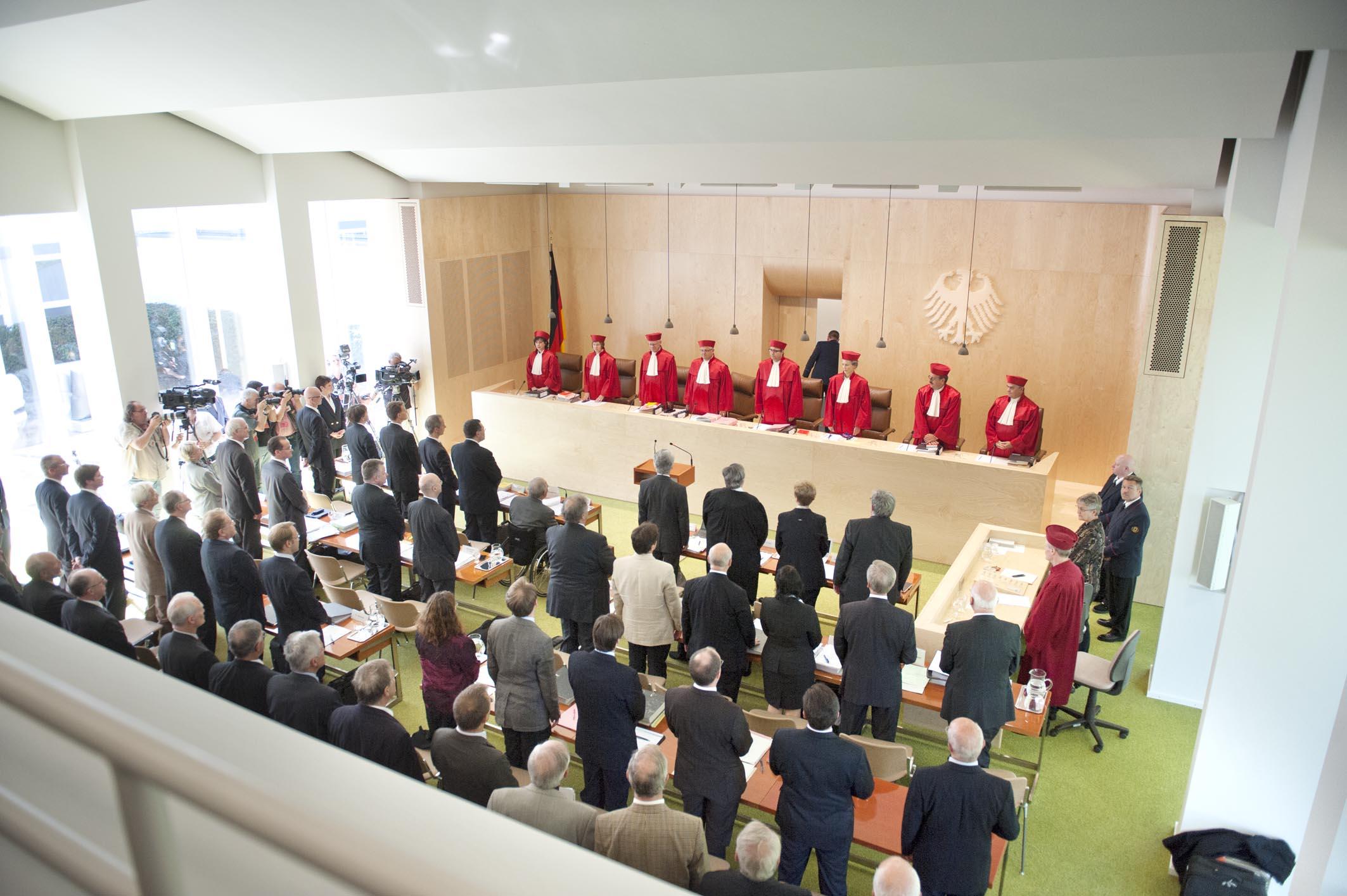 Bundesverfassungsgericht, Karlsruhe. Foto: Mehr Demokratie / Wikimedia Commons
