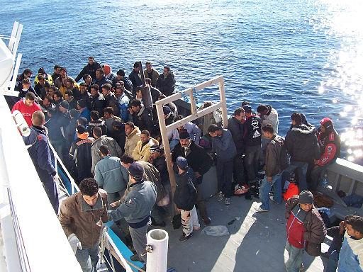 Migranter ved Lampedusa, Italien. Foto: Vito Manzari