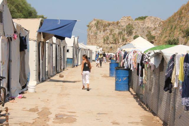 Fflygtningelejr og hotspot Vial på Chios Foto: Ota Tiefenböck
